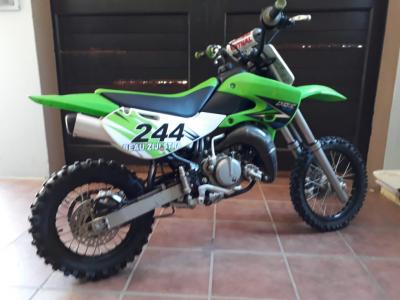 Kawasaki KX65 - 2-stroke, 1-cylinder, piston reed valve, water-cooled